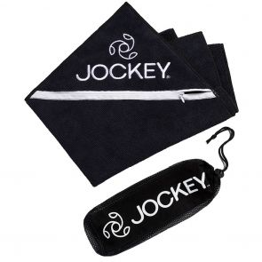 Jockey Zip Pocket Sports Towel & Carry Bag Black