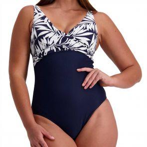 Moontide Bora Bora Underwire Wrap One Piece Swimsuit M4388BO Navy
