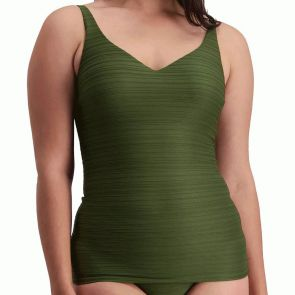 Moontide Manhattan U/W V-Neck Swim Tankini M3485MH Forest