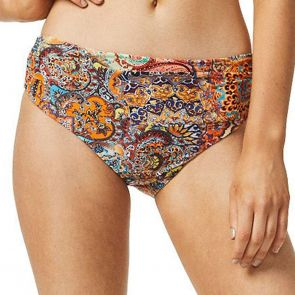 Moontide Golden Temple Ruched Front Swim Pant M7965GP Print
