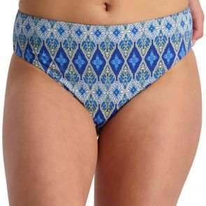 Moontide Bohemian Aesthetic Mid-Rise Swim Pant M7803BA Blue