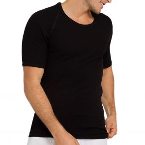 Holeproof Aircel Thermal Short Sleeve Tee MYQ31A Black