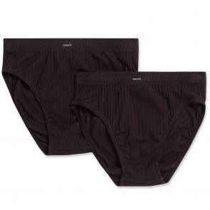 Holeproof Cotton Mock Rib Brief 2-Pack MZZX2A Black