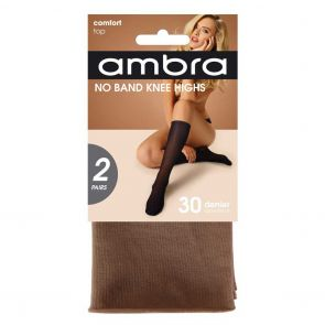 Ambra No Band Knee High 2-Pack NOB2PKH Natural