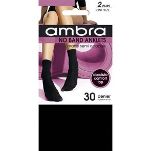 Ambra No Band Anklets 2-Pack NOB2PANK Black