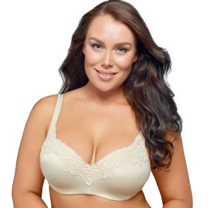 Playtex Balconette Underwire With Lace Bra P482L Mother Of Pearl