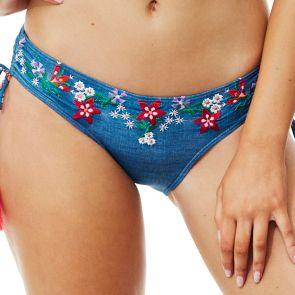 Piha Glastonbury Adjustable Side Swim Pant P2125GY Denim