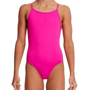 Funkita Girls Still Black Girls Diamond Back One Piece Still FS11G Pink