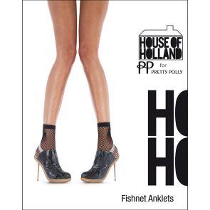House of Holland Fishnet Anklet HHAQJ4 Black