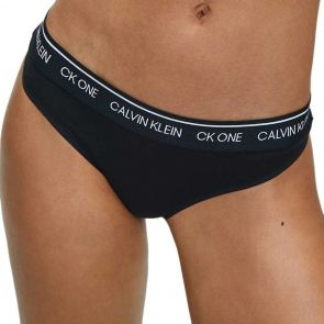 Calvin Klein CK Cotton Thong QF5733 Black