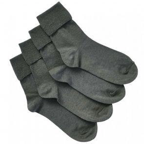 Bonds Kids School Turnover Top Socks 4-Pack R5134O Grey