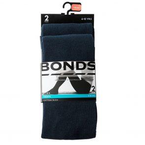 Bonds Kids School Tights 2-Pack R6312N Navy