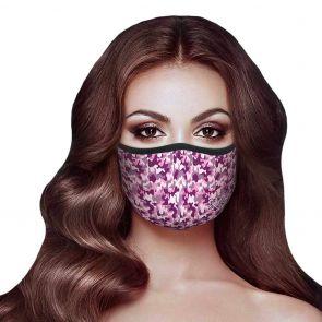 Rolling Skulls DefenderSkull Reusable 2-Layer Face Mask MSK02 Pink Camo