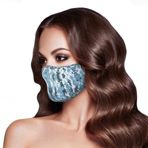Rolling Skulls DefenderSkullPLUS Reusable 3-Layer Face Mask MSK01 Snow