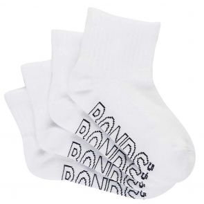Bonds Kids Logo Light Quarter Crew 4-Pack RYAG4N White