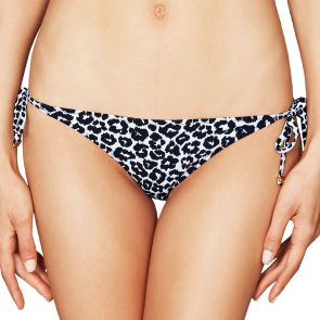 Stella McCartney Swim Mixed Animals and Elastic Tie Side Bikini Pant Midnight Blue/Leopard Giraffe S542-0007S