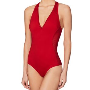 Stella McCartney Swim Neoprene and Mesh One Piece Salsa Red S548-0004S