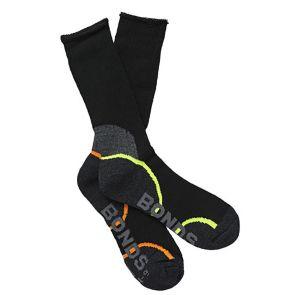 Bonds Acrylic Work Sock 2PK S8697D Black