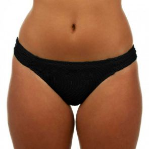 Finch Swim Santorini Ruched Side Pant Black SANP153