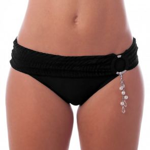 Finch Swim Santorini Banded Ring Pant Black SANP86