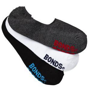 Bonds Mens Logo Footlet 3PK SATQ3N Assorted
