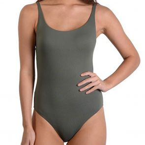 Finch Swim Seduce Tank One Piece Khaki SEM182