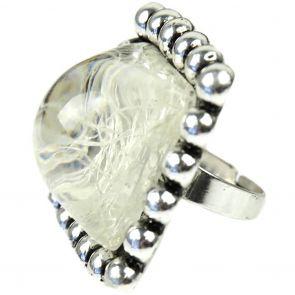 Sistaco Ice Square Ring 124660 Cream/Silver