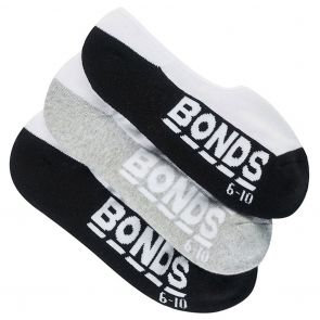 Bonds Mens Logo Sneaker Sock 3-Pack SYH43N Assorted