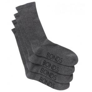 Bonds Very Comfy Crew Circulation Socks 2-Pack SZFP2N Grey