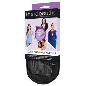 Therapeutix Medium Support Knee Hi 2 Pack T2PMSKH Black