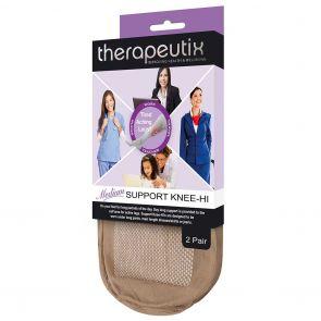 Therapeutix Medium Support Knee Hi 2 Pack T2PMSKH Natural