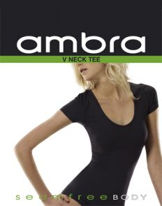 Ambra Body V-Neck T-Shirt AMBWVTEE Black
