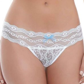 b.tempt'd Lace Kiss Thong White WB970182