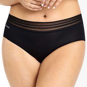 Jockey No Panty Line Promise Sheer Tops Boyleg WUG7 Black