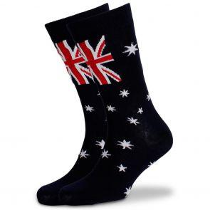 Mitch Dowd Aussie Flag Jacquard Crew Socks XMDM579 Multi