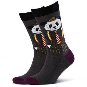 Mitch Dowd Dapper Panda Jacquard Crew Socks XMDM732 Multi