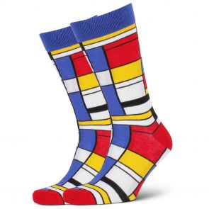 Mitch Dowd Composition Mondrian Crew Socks XMDM778 Multi