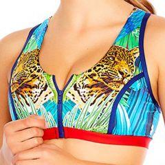 Aqua Blu Instinct D/DD Cup Sports Swim Top A8070IN Multi Womens Bra
