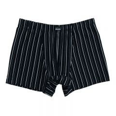 Bendon Man Cotton Stretch Trunk Black/White B50-603
