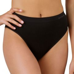 Ambra New Bodysoft Hi-Cut Brief AMUWBTQHC Black Womens Underwear