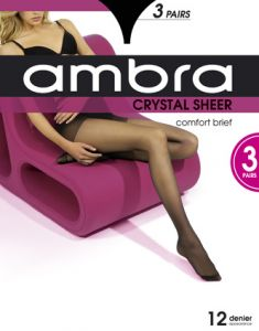 Ambra Crystal Sheer Classic Tights 3-Pack CRYPH3 Almost Black