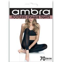 Ambra Footless Tights FOOTI Black