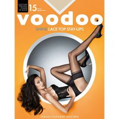 Voodoo Shine Lace Top Stay Ups H30440 Jabou Womens Hosiery