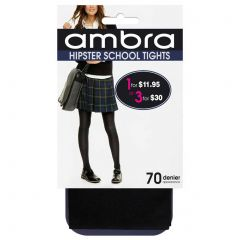Ambra Opaque Hipster School Tights HIPTI Classic Black