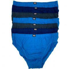 Rio Plain Hipster Brief 7-Pack MXL47W Blue/Grey