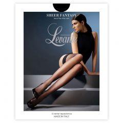 Levante Stockings and Stay Ups Sheer Fantasy Stay Ups SHRFSU Nero