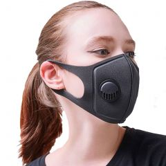 PM2.5 Pollution Face Mask with Respirator Black