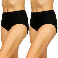 Hestia Heroes Full Brief 2 Pack W10072 Black Womens Underwear