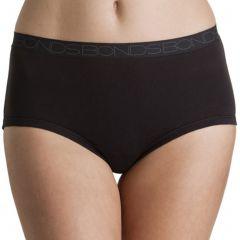 Bonds New Cottontails Full Brief W1762O Black Womens Underwear