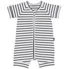 Bonds Zip Romper Wondersuit BXNMA Black Stripes Baby Cloth